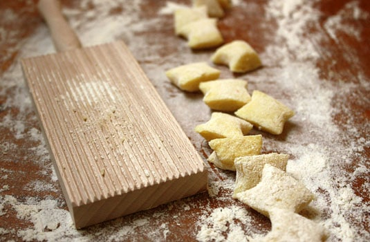 Plain pillow-looking gnocchi.