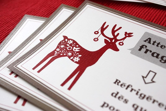 The reindeer stamp I used to decorate my label was modern, festive and intricate.