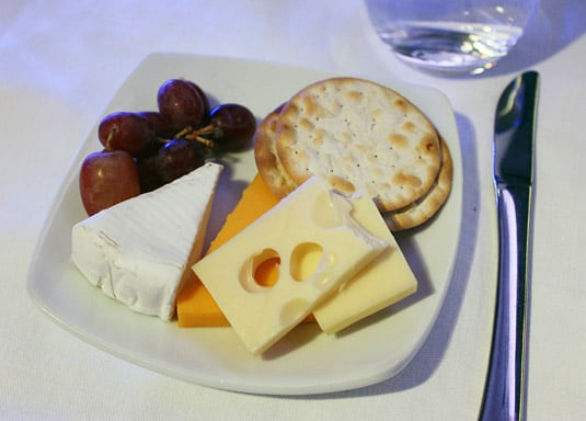 First Class Cheeses: Camembert, Yellow Cheddar and Oka served with Crackers