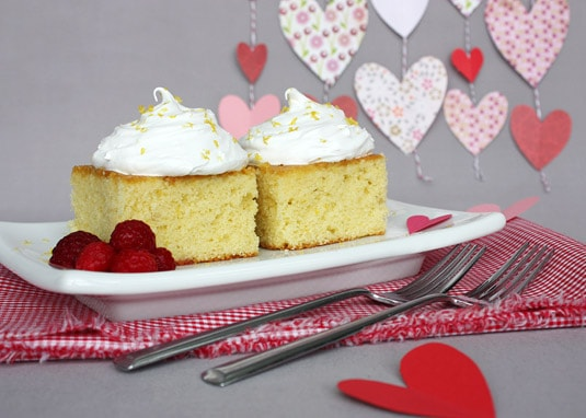Lemon & Olive Oil Cake with One-Step Italian Meringue