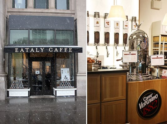 Eataly - Exterior and Espresso Machine