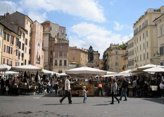 Market day, Campo de' Fiori, Rome