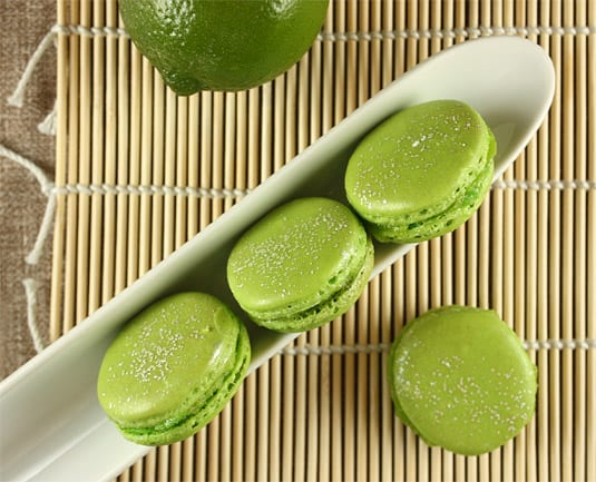 Lime & Basil Macarons, inspired by Pierre Hermé