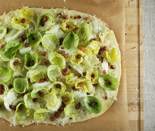 Brussels Sprout and Pancetta Pizza
