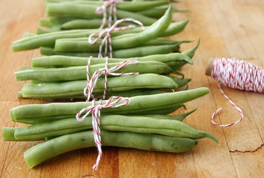 Bundled green beans, like my grandma used to do.