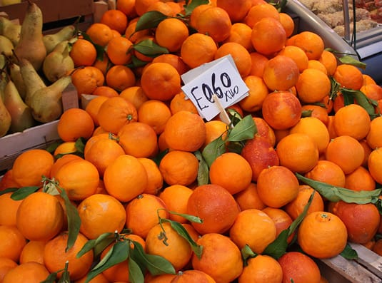 Oranges at the market in Catania, Sicily