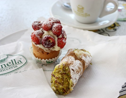 Coffee (and pastry) break at Spinella's, Catania, Sicily.