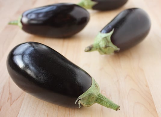 Small Italian eggplants