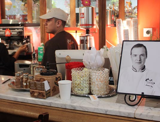 The coffee bar at Jacques Torres, New York City