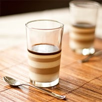 Vietnamese Ice Coffee Panna Cotta by Zoe Bakes
