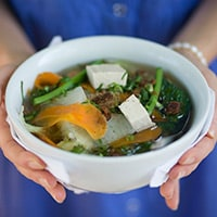 Vegetarian Pho, David Frenkiel and Luise Vindahl's favorite dish in Ho Chi Minh City, Vietnam.