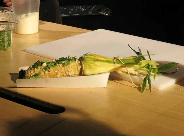 Grumman 78's famous corn on the cob by chef Marc-Andr Leclerc / FoodNouveau.com