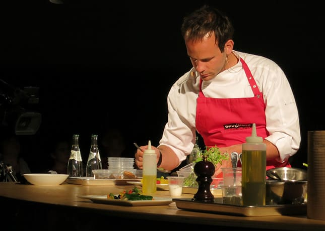 Chef Grgory Marchand from restaurant Frenchie, Paris, at the Omnivore Food Festival, Montreal / FoodNouveau.com