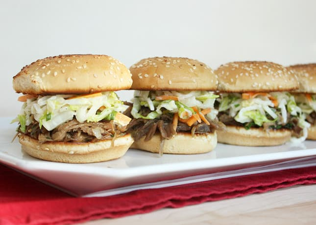 Duck Confit Sliders with Asian Slaw / FoodNouveau.com