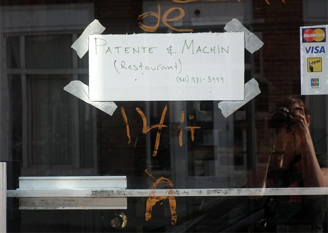 Patente et Machin, Quebec City's most talked about new restaurant, has open its doors so recently that they don't even have a sign yet. / FoodNouveau.com