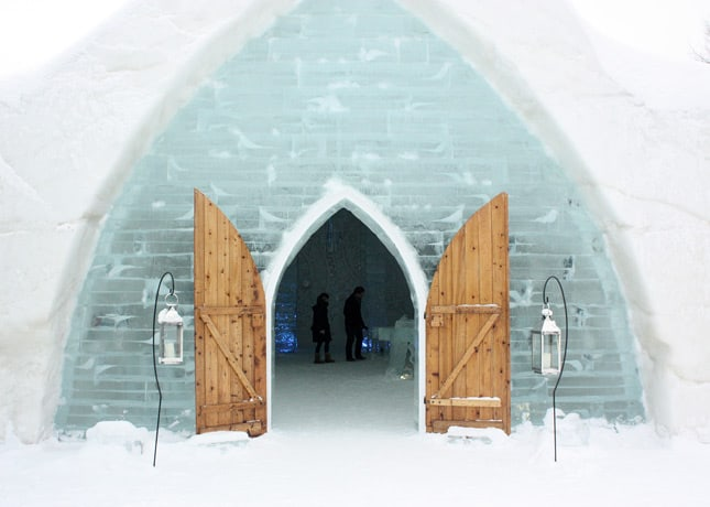 Ice Hotel, Quebec City: The Entrance // FoodNouveau.com