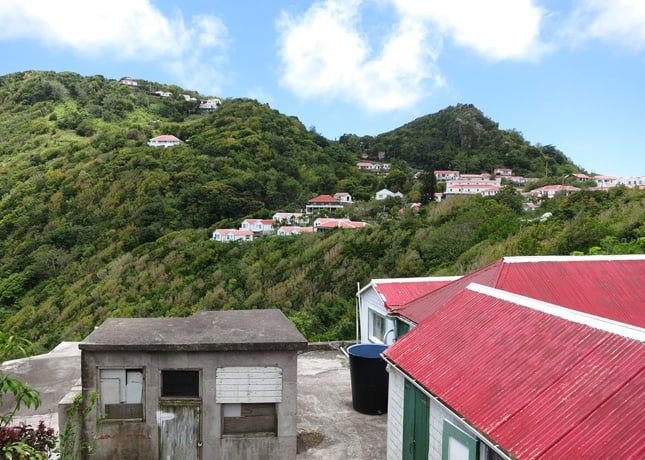 Perched houses on Saba // FoodNouveau.com