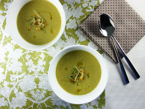 Zucchini and Fresh Ginger Velouté // FoodNouveau.com