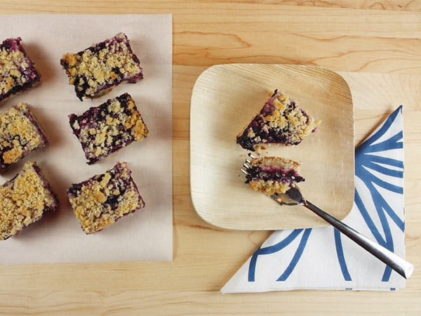 Blueberry and Oat Crumb Bars // FoodNouveau.com