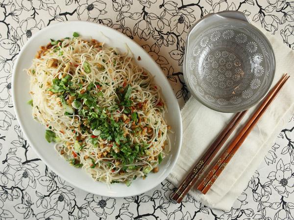 Peanut and Coriander Noodles // FoodNouveau.com