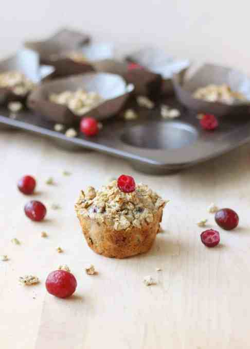 Maple and Cranberry Granola Muffins (Dairy Free)