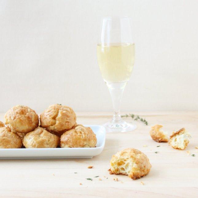 Champagne, Comté, and Thyme Gougères // FoodNouveau.com