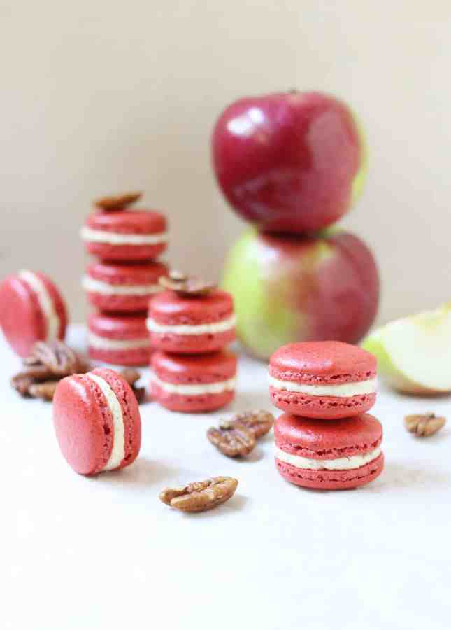 as comfort food? These Spiced Pecan Macarons with Caramelized Apple ...