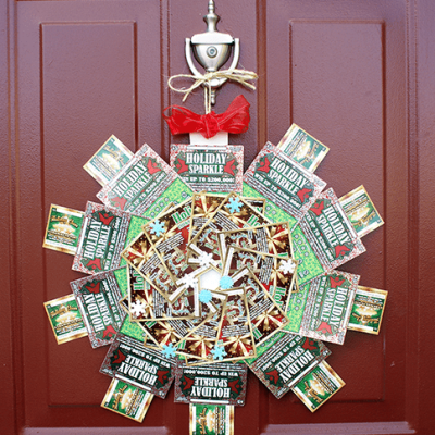 DIY NJ Lottery Ticket Scratch Off Christmas Wreath