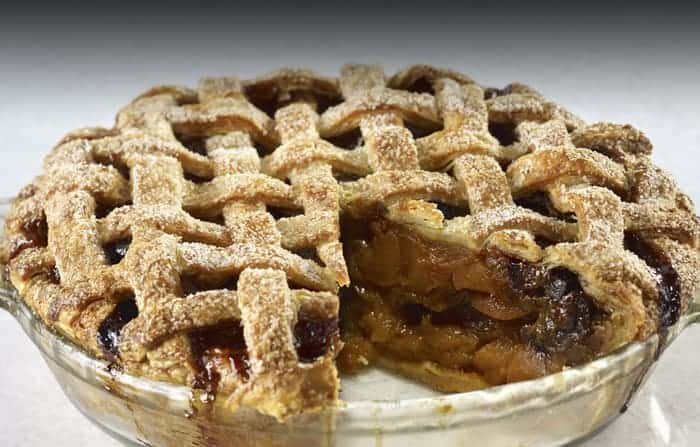Holiday Apple Pie with Dried Fruit & Caramel Sauce - Food N Service