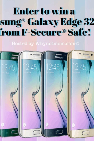 Samsung Galaxy Edge S7 32GB Giveaway! #FSecureSAFE