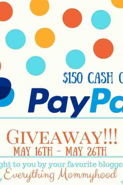 $150 Paypal or $150 Cash Prize Giveaway!!