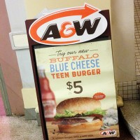 A&W: Buffalo Blue Cheese Teen Burger