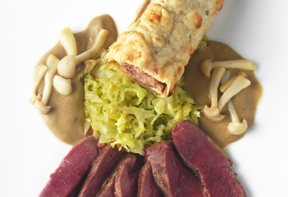 Thousand Island Mallard Duck, Cabbage, Mushrooms