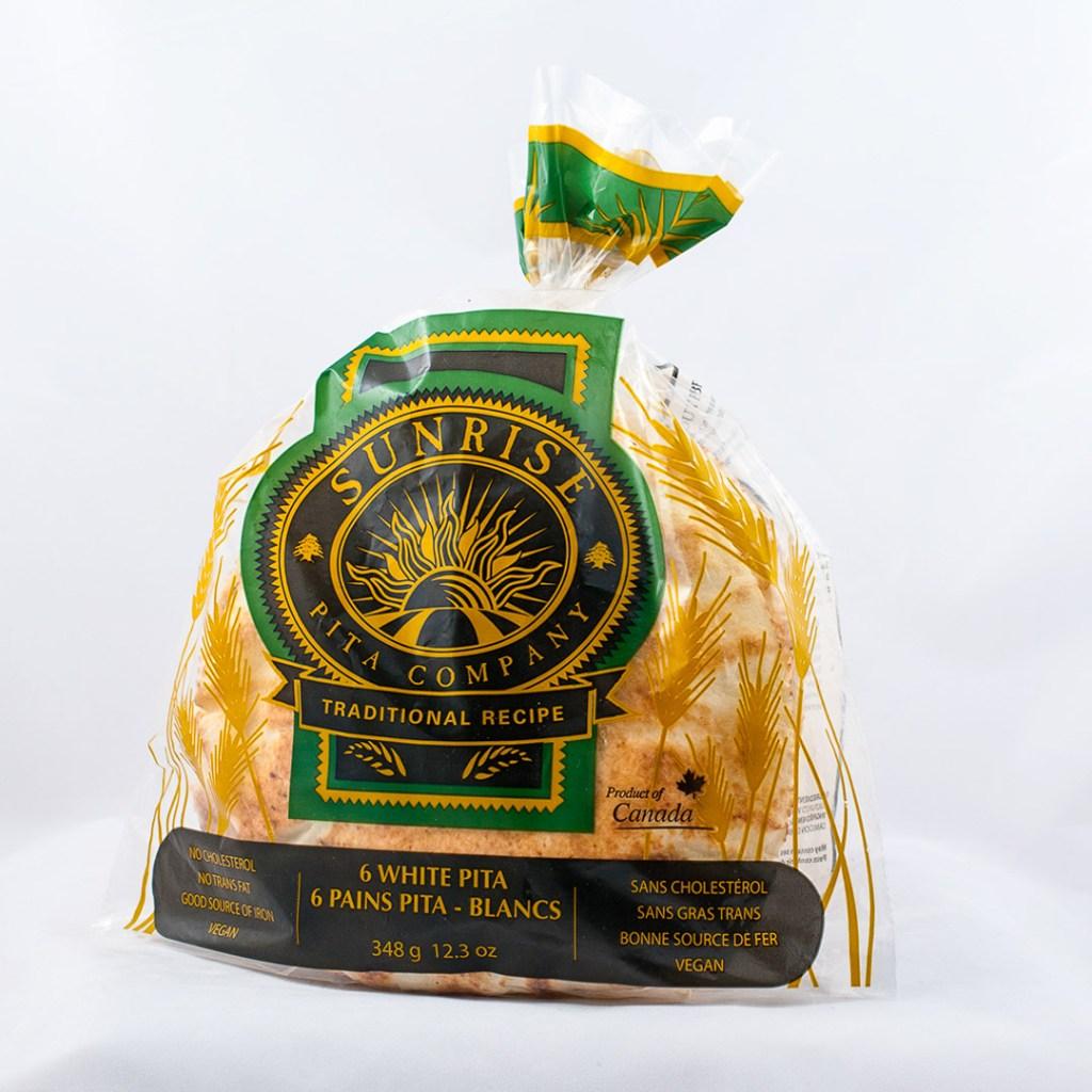 Pita bread package profile shot