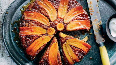 Banana Upside-Down Cake Recipe