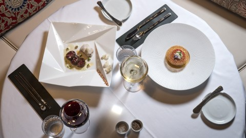 """""""The success of the restaurant's design is not only about uncovering Gabriel's Alsatian roots on his journey to New York,"""" says the architect behind Gabriel Kreuther's new NYC restaurant, """"but interpreting the layers of his cuisine."""""""