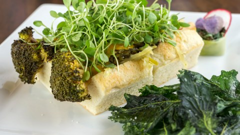 Broccoli dogs at Amanda Cohen's New York City vegetarian hotspot, Dirt Candy