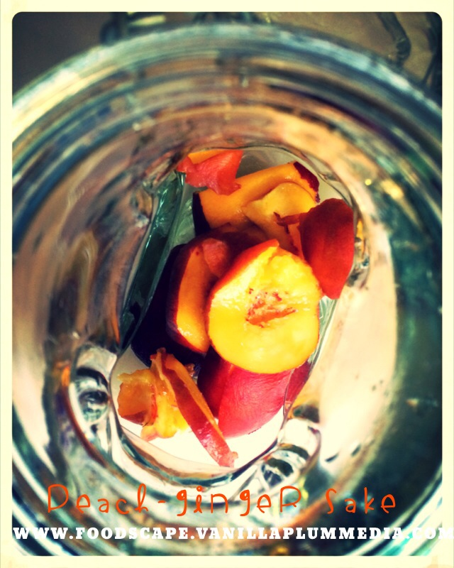 Peach Ginger Sake Infusion