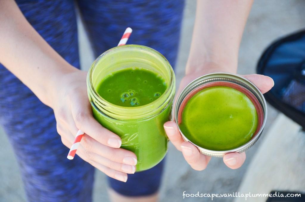 Green Monster Margarita Smoothie  -  A watermelon smoothie that tastes like a margarita.