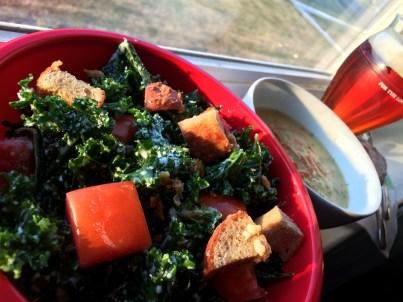 Kale Caesar Salad | foodsciencenerd.com