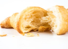 Croissant on withe isolated background