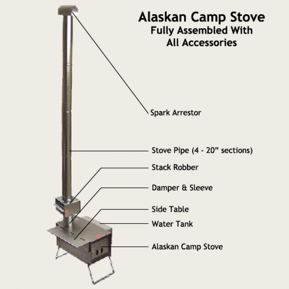 Denali Camp Stove Kni Co Mfg Denali Camp Stove Deluxe Pkg