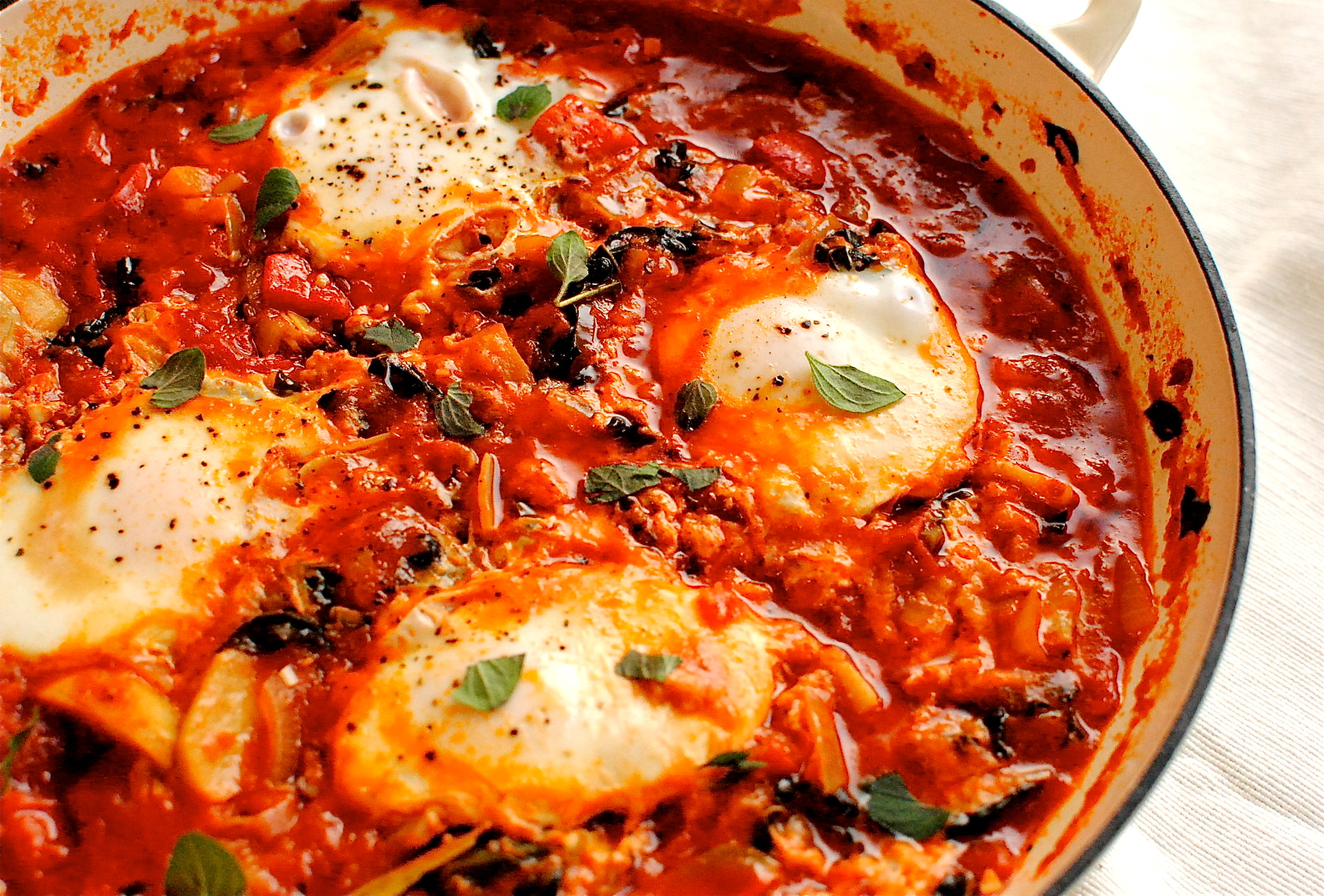 African Cuisine Recipes Easy Shakshuka Spiced North African Tomato And Eggs