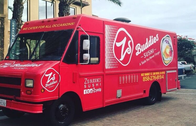 Japanese Cuisine Food Truck Zs Buddies Sushi Food Truck