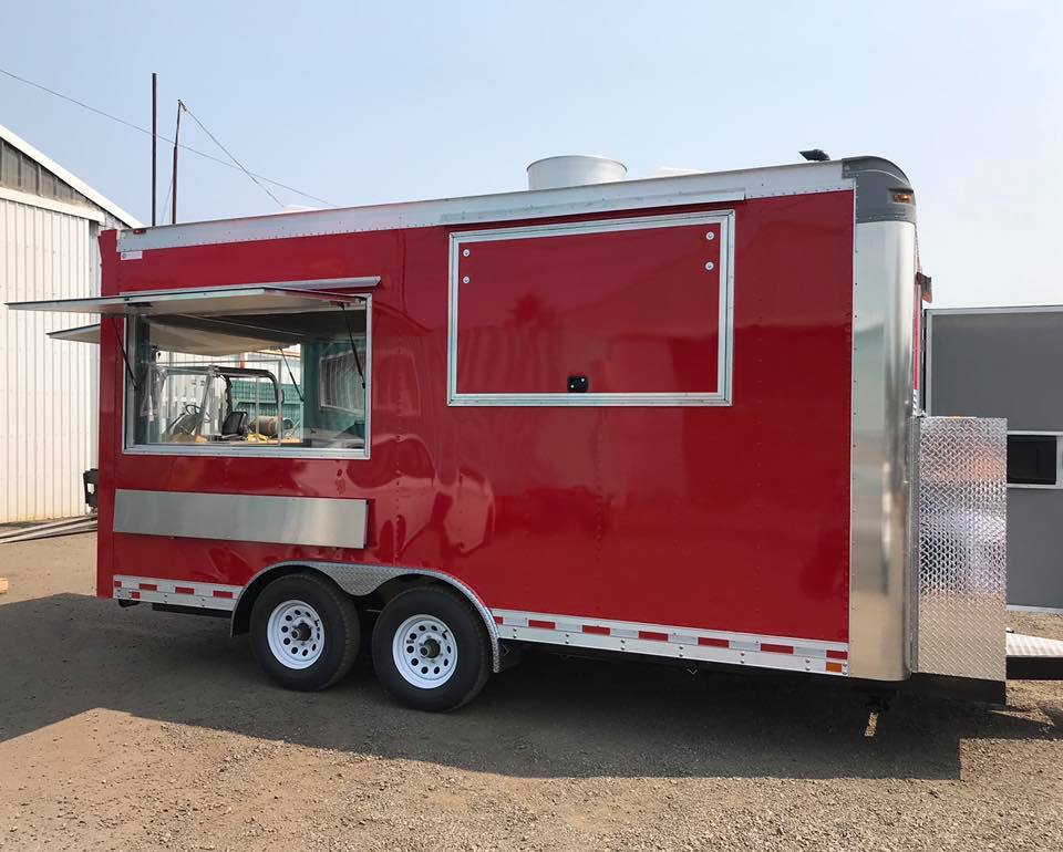 2018 Enclosed Red Concession Trailer For Sale In Scappoose