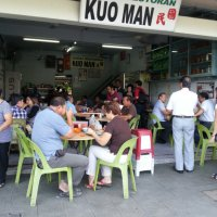 Early morning meaty breakfast@Kuo Man, Kota Kinabalu