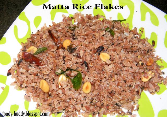 Matta Rice Flakes Upma / Sivappu Arisi Aval Upma