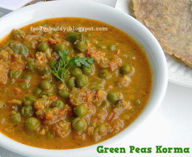Green Peas Kurma Recipe | Pattani Kurma - Side Dish for Chapathi