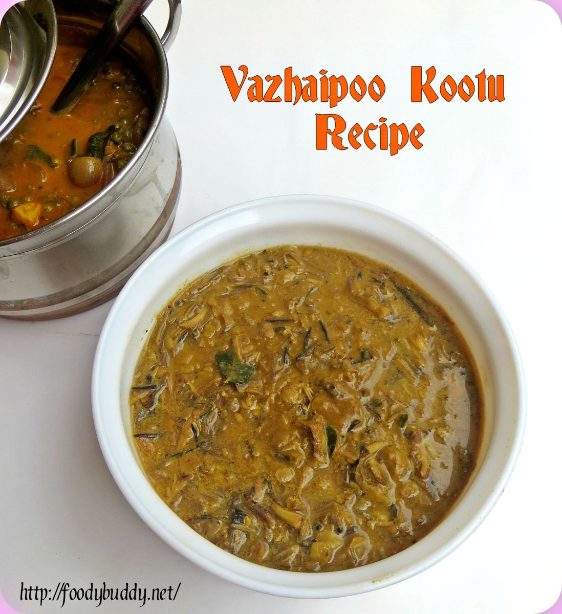 Vazhaipoo Kootu Recipe without coconut