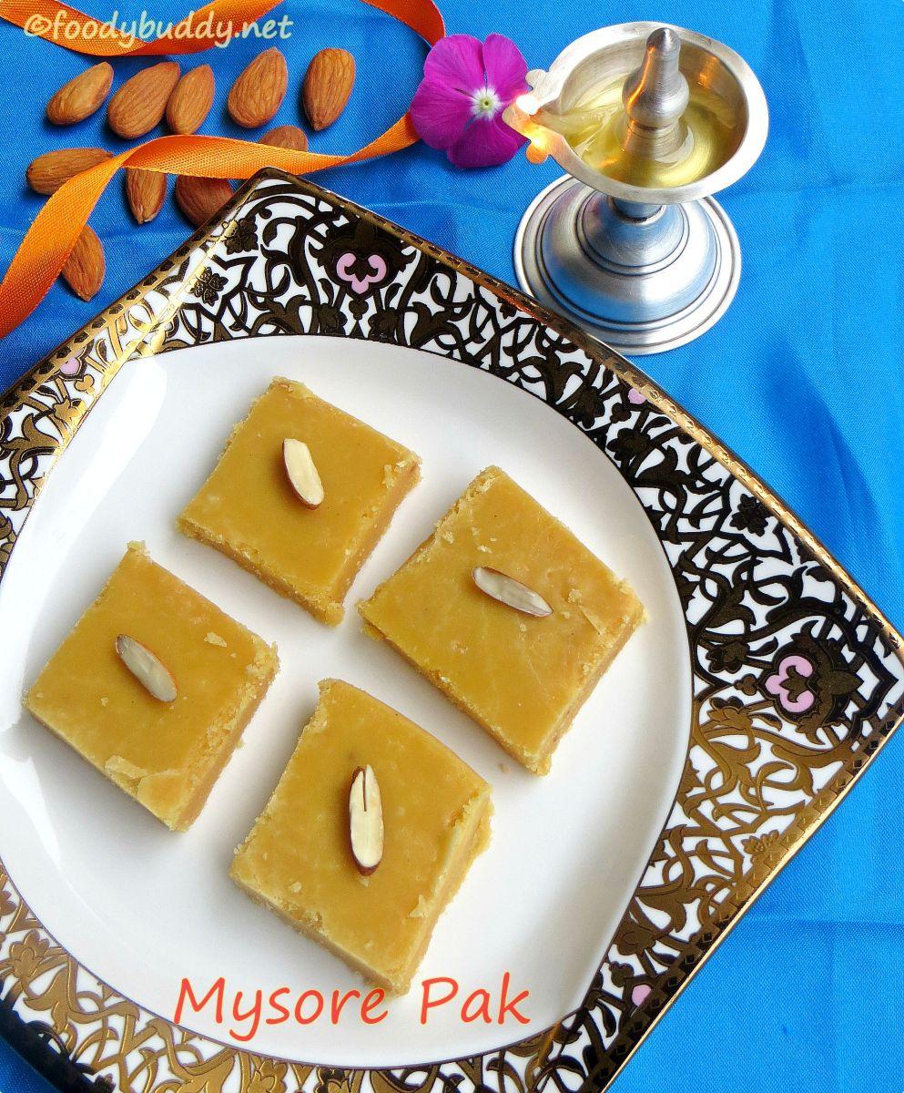 Soft Badam Mysore Pak Recipe / Krishna Sweets Style